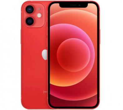 "iPhone 12 mini Apple 128GB PRODUCT(RED) Tela de 5,4"", Câmera Dupla de 12MP, iOS"