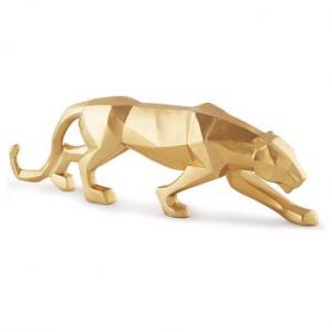 Escultura Decorativa Felinos III Dourada