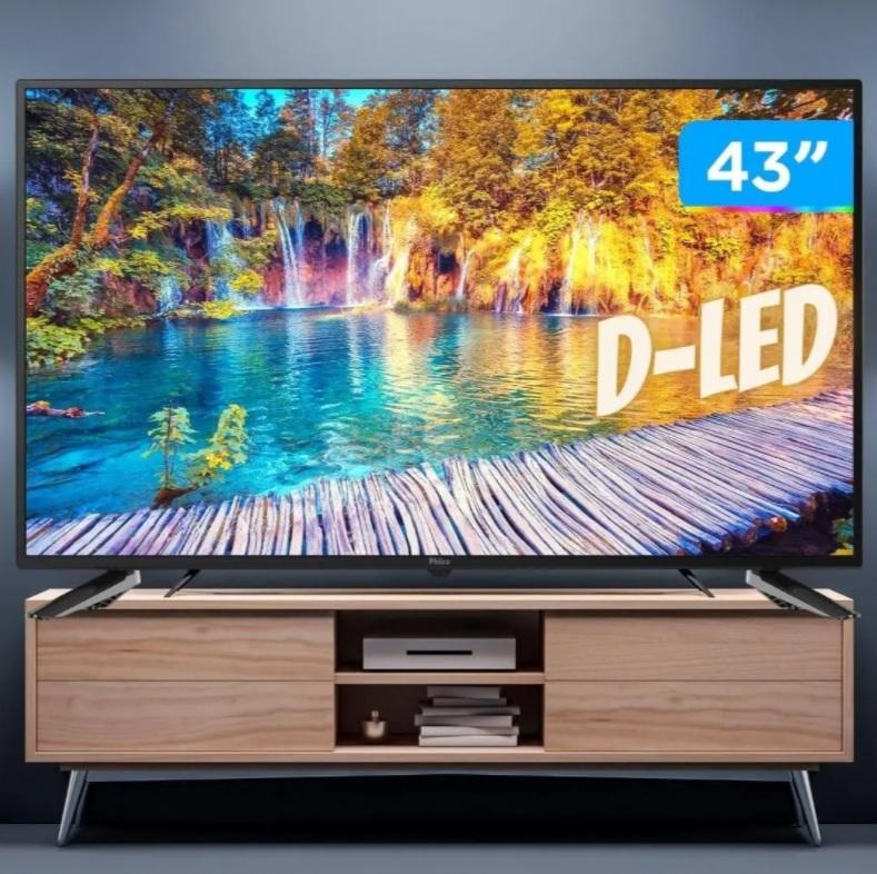 """Smart TV LED 43"""" Full HD Philco – PTV43E10N5SF com Processador Quad Core, Mídia Cast, Wi-Fi, HDMI e USB"""