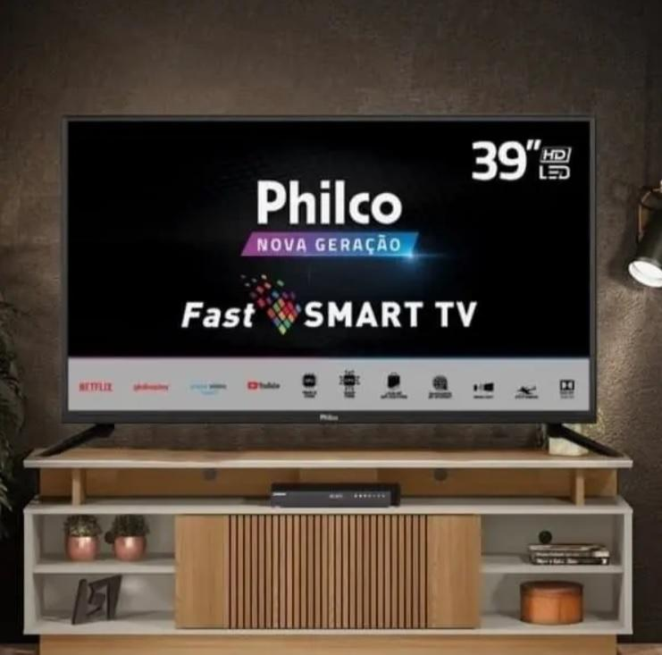 Smart TV LED 39″ HD Philco PTV39G60S Processador Quad Core GPU Triple Core HDR Mídia Cast Wi-Fi 2 HDMI 1 USB