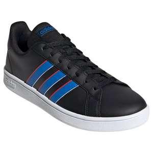 [APP]Tênis Adidas Grand Court Base Masculino - Preto + Azul