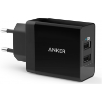 Carregador de Parede Anker PowerPort com 2 portas USB - Preto