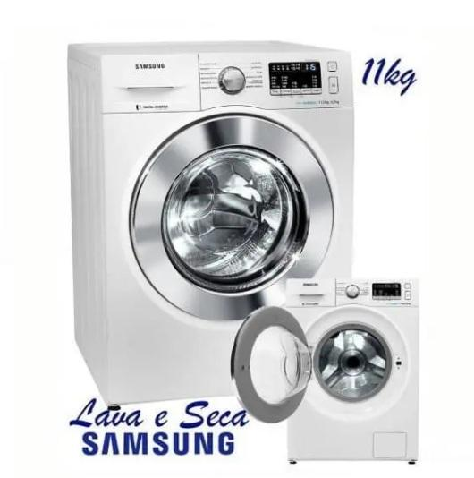 Lava e Seca Samsung 3 em 1 WD4000 com Lavagem a Seco WD11M44733W Branca 11/7 kg – 110v