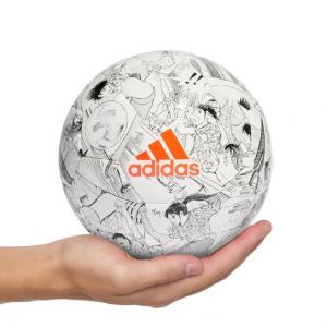 Mini Bola Adidas Tsubasa Match Ball Replica - Branco+Preto