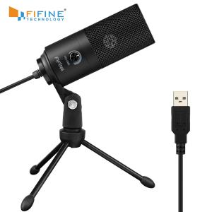 Microfone Condensador Fifine Metal USB K669