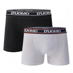 Kit 10 Cuecas Boxer Algodão Duomo Branca/ Preta