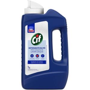 2 Unidades Detergente em Pó para Máquina de Lavar Louças Cif - 1kg Cada