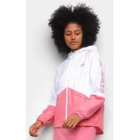 2 Unidades - Jaqueta Corta Vento Adidas Linear Colorblock Feminina - Tam. G