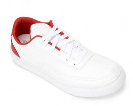 Tênis Burn New Masculino – Branco+Vermelho