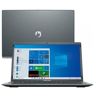 "Notebook Positivo Motion Intel Atom Quad Core 4GB 128GB eMMC Tela 14"" Windows 10 - Q4128C-S"