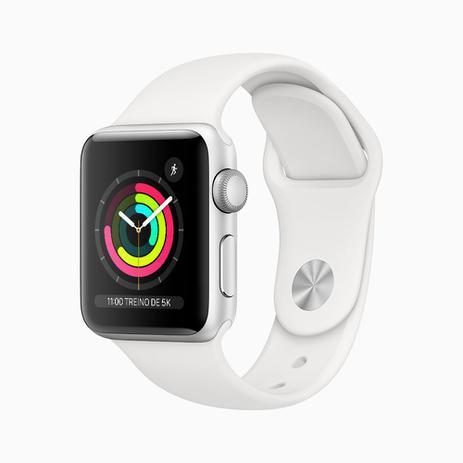 Apple Watch Series 3 (GPS) – 38mm – Caixa prateada de alumínio com pulseira esportiva