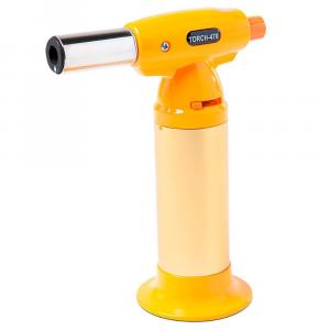 Maçarico Recarregável Brinox Glacê em Aço Inox e ABS 15 cm – Amarelo