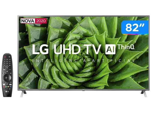 "Smart TV UHD 4K LED 82"" LG 82UN8000PSB Wi-Fi – Bluetooth HDR Inteligência Artificial 4 HDMI 3 USB"