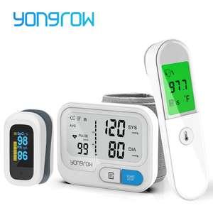 Monitor de pressão arterial Yongrow + Oxímetro + Termômetro