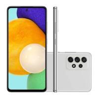 """Smartphone Samsung A52 128GB Branco 4G Tela 6.5"""" Câmera Quádrupla 64MP Selfie 32MP Dual Chip"""
