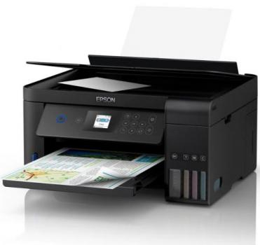 Multifuncional Tanque de Tinta Epson EcoTank L4160 Wireless – Impressora, Copiadora, Scanner