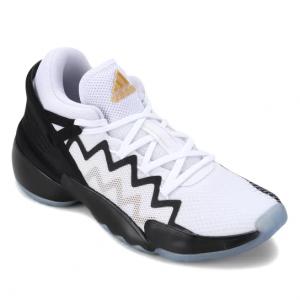 Tênis Adidas Donovan Mitchell Issue 2 - Branco e Dourado