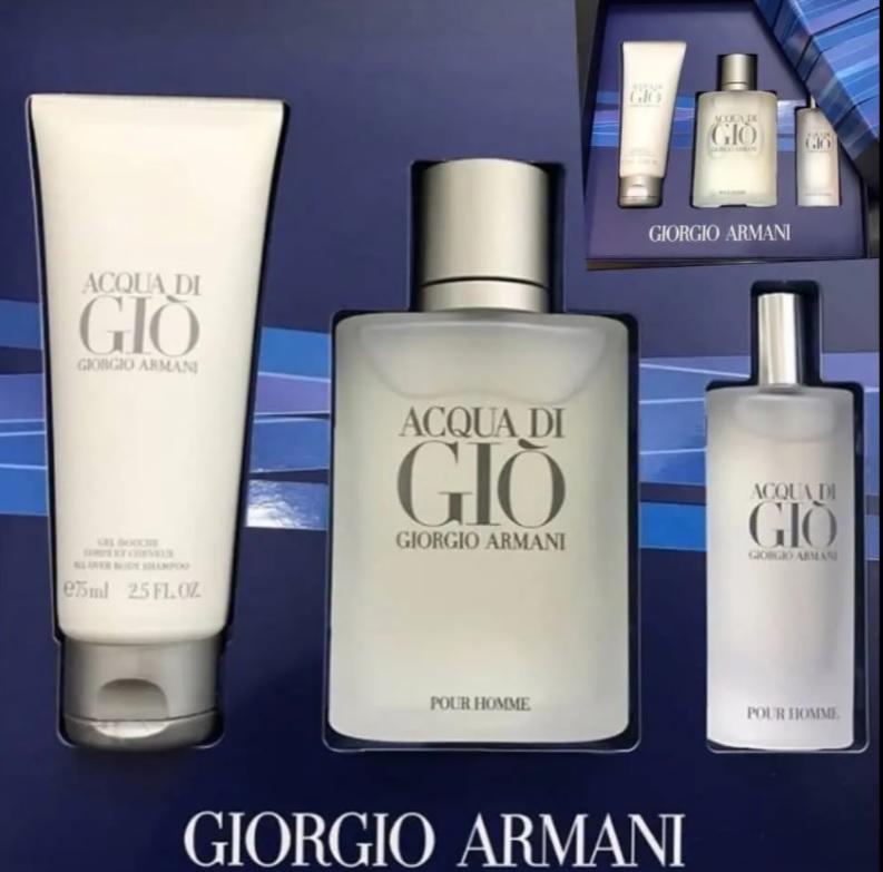 Giorgio Armani Acqua di Giò Kit – EDT 50ml + Gel de Banho 75ml + Pós Barba75ml