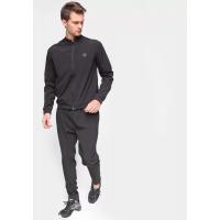 Conjunto de Agasalho Gajang Esporte Calça e Blusa Liso Masculino - Preto