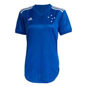 Camisa Cruzeiro I 20/21 s/nº Torcedor Adidas Feminina - Azul