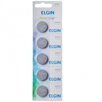Elgin CR2032, Bateria de Litio 3V, Blister com 5 Baterias