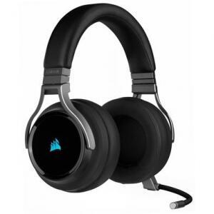 Headset Gamer Corsair Virtuoso Premium Wireless Surround 7.1 Drivers 50mm Carbono - CA-9011185-NA