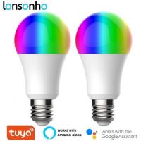 2 Lâmpadas LED Inteligentes Lonsonho Tuya E27 9W