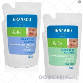 Refil Sabonete Glicerina Bebê, Granado, 250ml