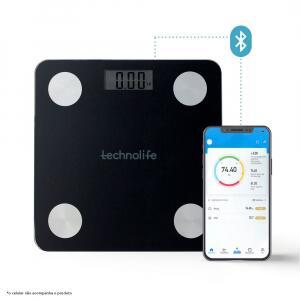 Balança Digital de Bioimpedância com Bluetooth Technolife Preta HB8204