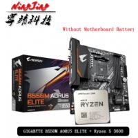 Kit Processador AMD Ryzen 5 3600 + Placa Mãe Gigabyte B550M Aorus Elite - Internacional