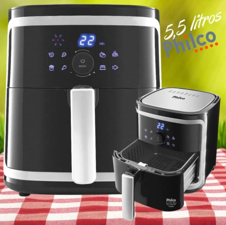 Fritadeira Air Fry Gourmet Black Plus Pfr16p Philco